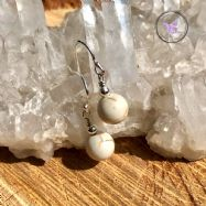 Classical Magnesite Silver Earrings